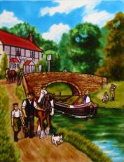 British Waterways Ceramic Picture Tile by Kevin Walsh 11