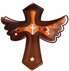 Bronze Cross Stainless Steel Wind Spinner