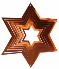 Bronze Star Stainless Steel Wind Spinner