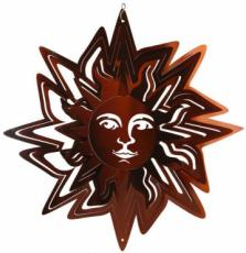Bronze Sun Stainless Steel Wind Spinner