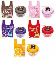 Brulee Cake Shopping Bags (Set of 5 Assorted Colours)
