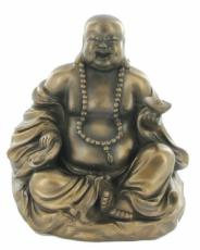 Buddha Holding Yuan Bao, Cold Cast Bronze Sculpture by Beauchamp Bronze