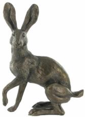 Buttercup Standing Hare Cold Cast Bronze Sculpture by Harriet Glen