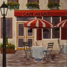 Cafe Au Lait Decorative Ceramic Picture Tile By Fabiano 12
