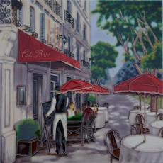 Cafe Brio Decorative Ceramic Picture Tile By James Wiens 12
