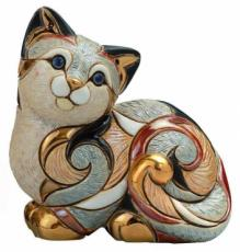 Calico Cat Resting, Families Collection Figurine by De Rosa