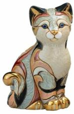 Calico Cat Sitting, Families Collection Figurine by De Rosa