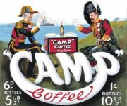 Camp Coffee, Metal Sign