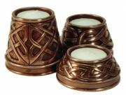 Candle Holder (Large) in Bronze Finish by Design Clinic