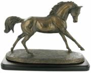 Cantering Arabian Cold Cast Bronze Sculpture by Harriet Glen