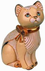 Cat with Ribbon, Anniversary Figurine by De Rosa