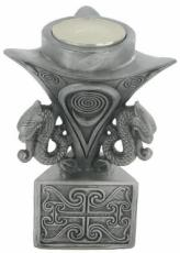 Celtic Pattern T-Light Holder in Cold Cast Pewter