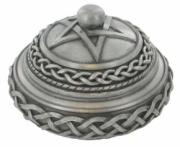 Celtic Round Box in Cold Cast Pewter