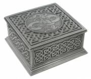 Celtic Square Box in Cold Cast Pewter