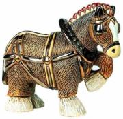 Clydesdale Horse, Anniversary Collection Figurine by De Rosa