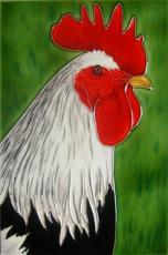 Cockerel Ceramic Picture Tile by Kandy 8 x 12