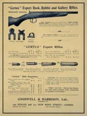 Cogswell & Harrison 'Certus' Rifles, Metal Sign