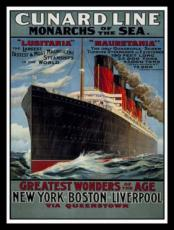 Cunard Line, Metal Sign