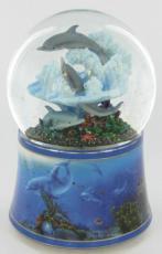 Dolphins Glitter Globe