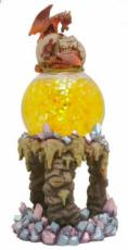 Dragons Hatching Glitter Lamp Oil Burner with Neutral Glitter Ball