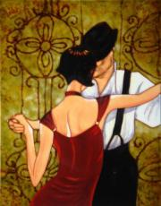 Evening Tango Ceramic Picture Tile by Trish Biddle 11
