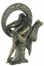 Fairy Mirror, Cold Cast Bronze Sculpture by Beauchamp Bronze