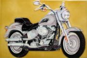 Fatboy Harley Ceramic Picture Tile by Kandy 8