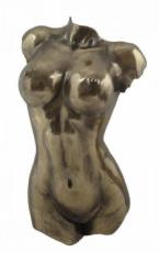 Female Torso Cold Cast Bronze Wall Plaque