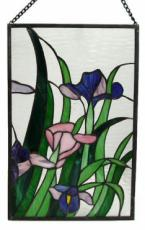 Flowers and Foliage, Stained Glass Panel