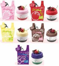 French Panna Cotta Cake Shopping Bags (Set of 5 Assorted Colours)