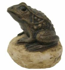 Frog Figurine by Stoned On Nature