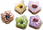 Fruit Sundae Cakes (Set of 5 Assorted Colours)