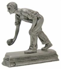 Gentleman Bowling Pewter Finish Sporting Trophy