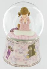 Girls Prayer Glitter Globe