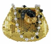 Gold Sequin Handbag Money Bank