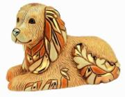 Golden Retriever, Anniversary Figurine by De Rosa