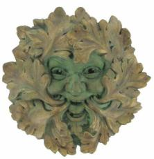 Green Leaf (Large) Garden Wall Plaque, The Greenwood Tree