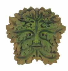 Green Man Gothic Garden Wall Plaque, The Greenwood Tree