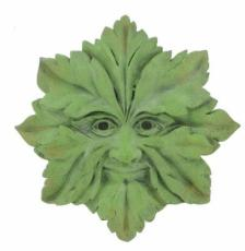 Green Man Star Garden Wall Plaque, The Greenwood Tree