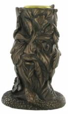 Greenman Candlestick Holder in Bronze by Tina Tarrant