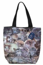 Henry Cats Fabric Tote Bag