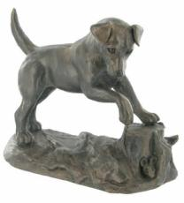 Jack Russell, Cold Cast Bronze Sculpture by Harriet Glen
