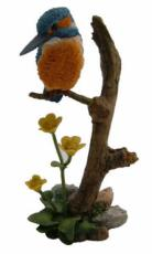 Kingfisher and Marsh Marigolds