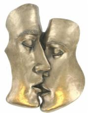 Kiss Cold Cast Bronze Sculpture by Love Is Blue