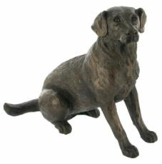 Labrador Cold Cast Bronze Sculpture by Harriet Glen