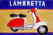 Lambretta Ceramic Picture Tile by Martin Wiscombe 8