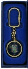 Lapis Blue Gemstone Globe Keyring