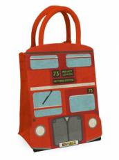 London Bus Jute Bag