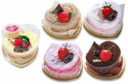 Love Heart Strawberry Cakes (Set of 5 Assorted Colours)