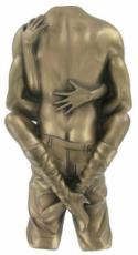 Lovers Cold Cast Bronze Wall Plaque by Love Is Blue